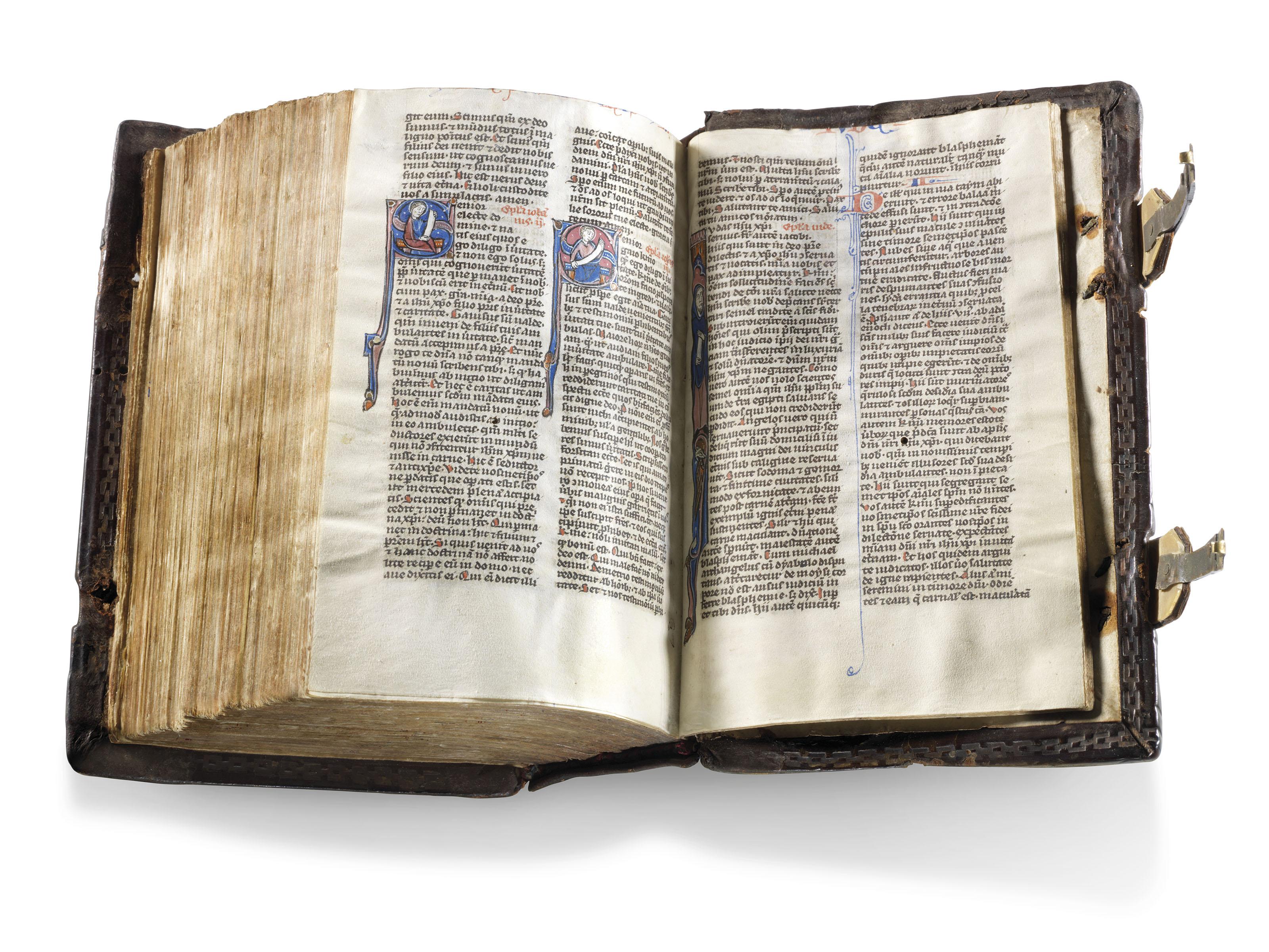 BIBLE, with Prologues, in Latin, illuminated manuscript on vellum [Paris, mid-13th century]