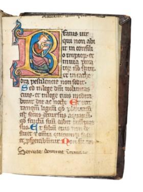 PSALTER, in Latin, illuminated manuscript on vellum, [Cologn