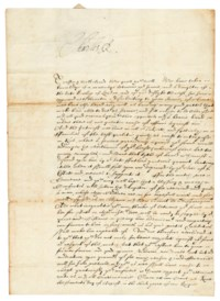 CHARLES I (1600-1649), King of England, Scotland and Ireland. Letter signed ('Charles R') to Sir Thomas Holte, 1st Bart, Rycote, 7 August 1627.
