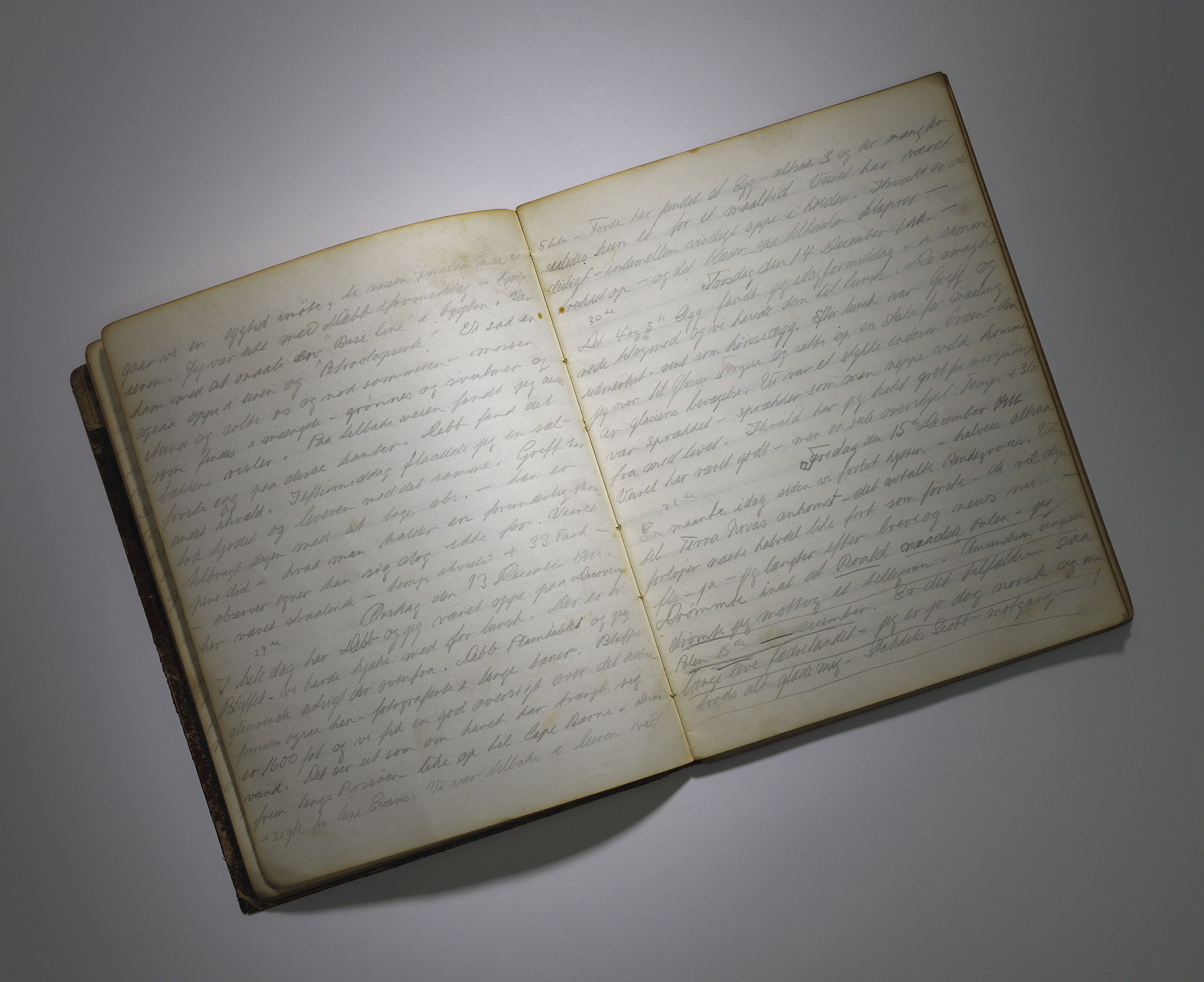 GRAN, Tryggve (1888-1980). Two autograph manuscript sledging journals of the 1910-1913 British Antarctic Expedition, comprising:
