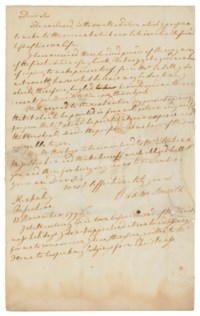 SMITH, Adam (1723-1790). Autograph letter signed ('Adam Smith') to [his publisher] William Strahan, Kirkaldy, 13 November 1776.