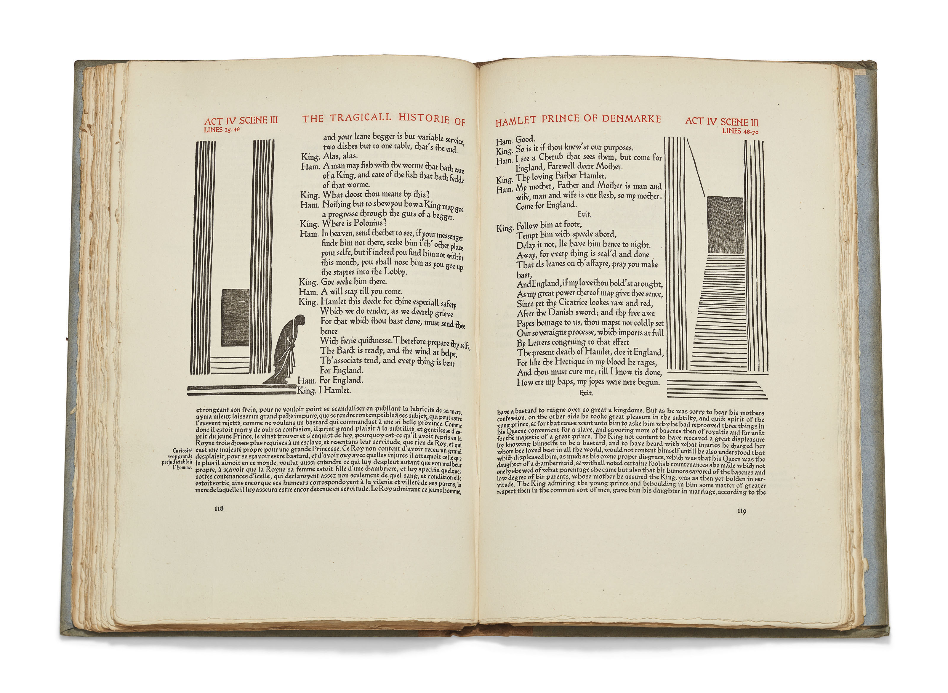 SHAKESPEARE, William (1564-1616).The Tragedie of Hamlet Prince of Denmarke. Weimar: Cranach Press, 1930.