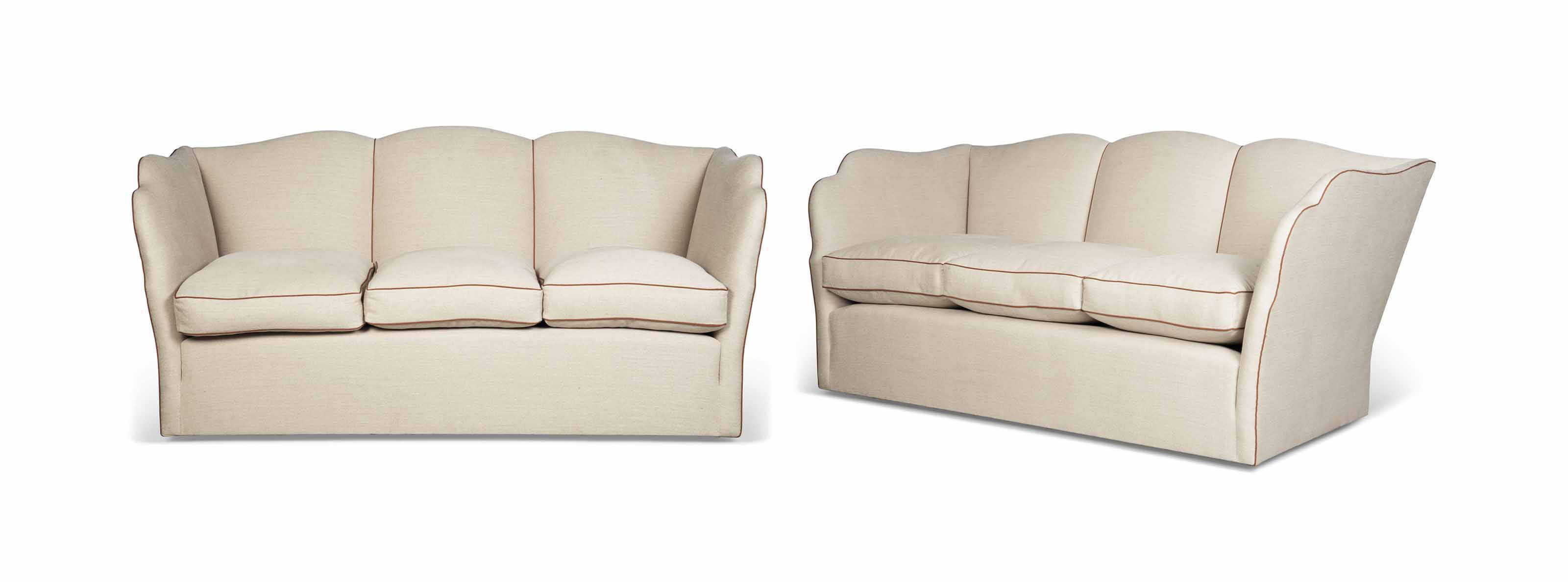 A PAIR OF 1930s STYLE SOFAS
