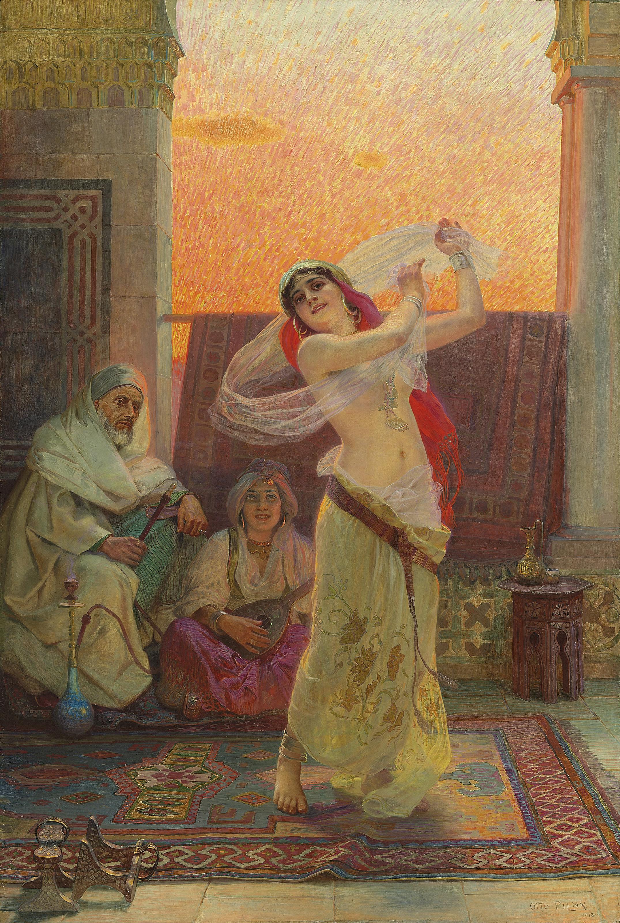 An Oriental Beauty dancing