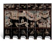 A CHINESE EXPORT POLYCHROME-DE