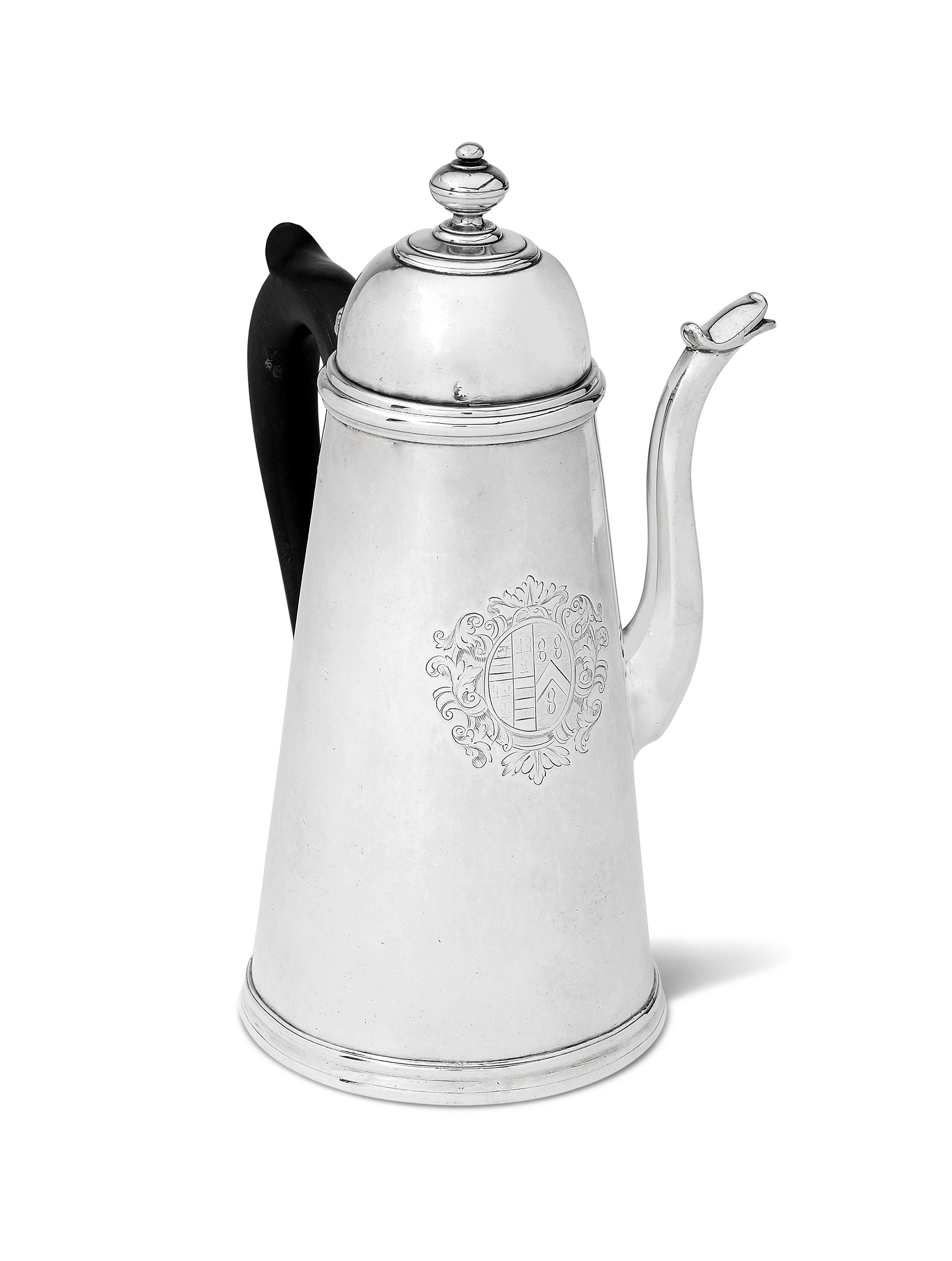 A QUEEN ANNE SILVER COFFEE-POT