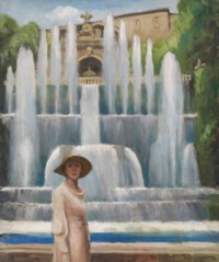 Portrait of Lady Diana Cooper at the Villa d'Este, Tivoli