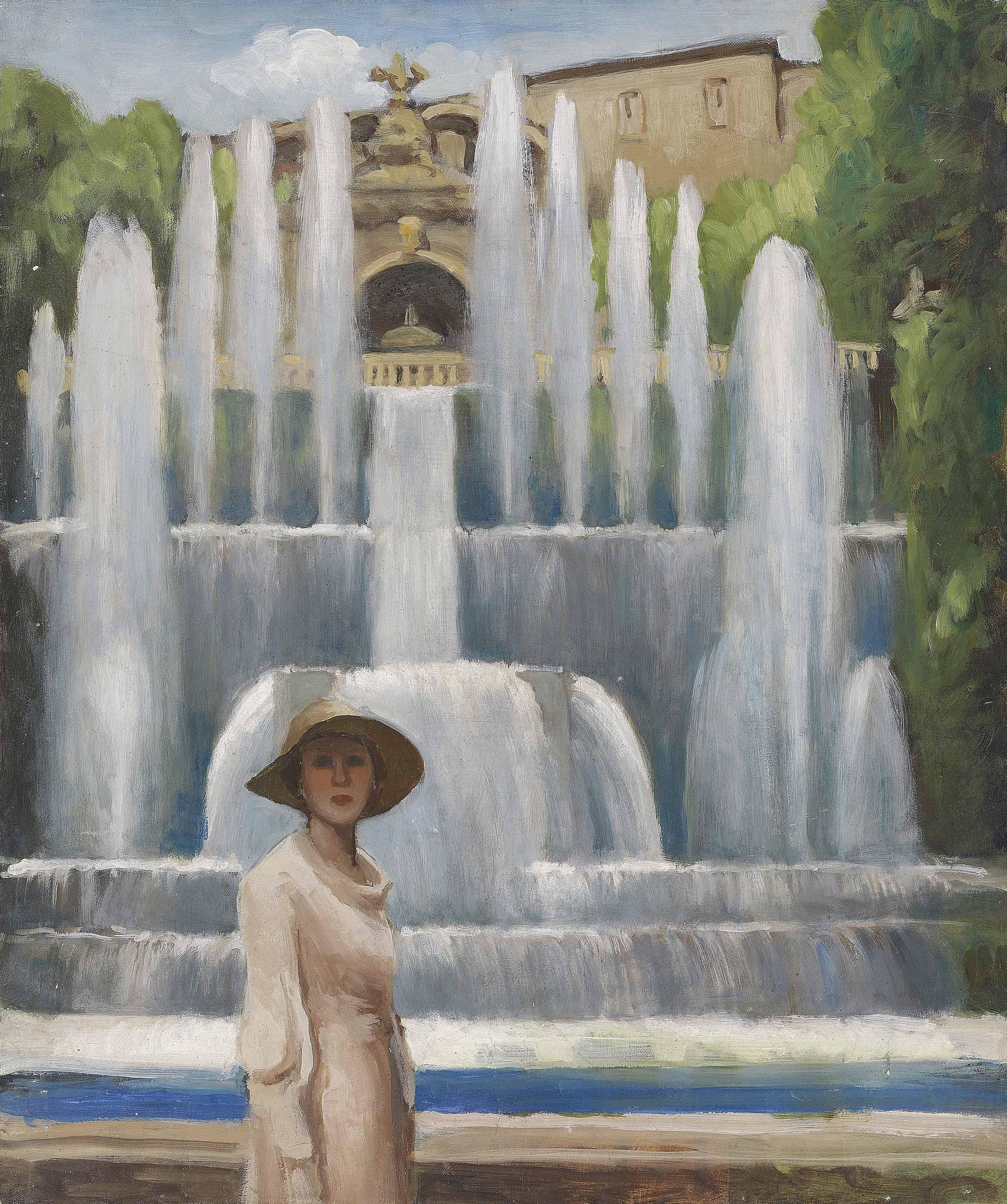 Portrait of Lady Diana Cooper at the Villa d'Este, Tivoli