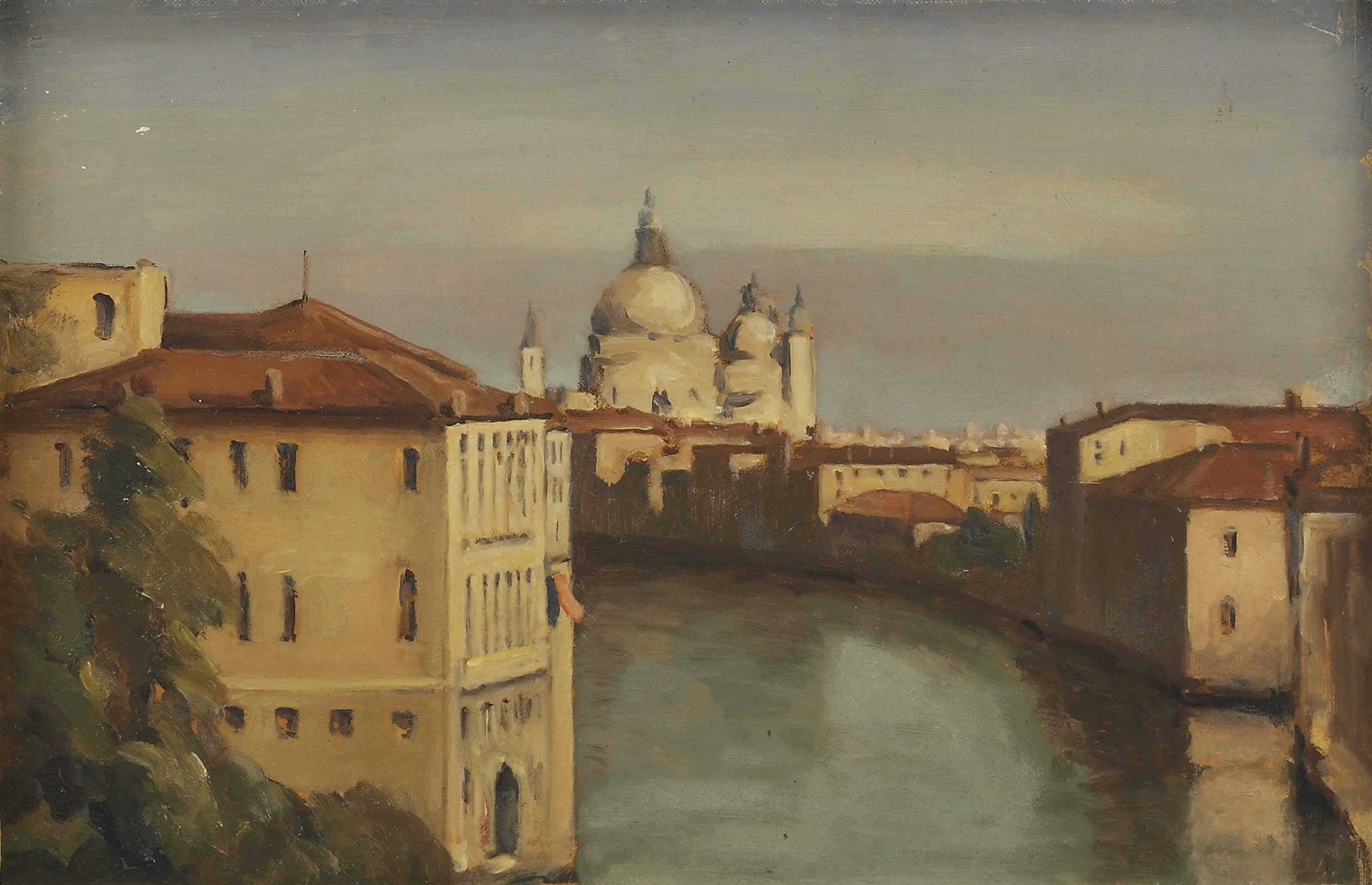 View of Venice looking towards the Basilica of Santa Maria della Salute from the Grand Canal