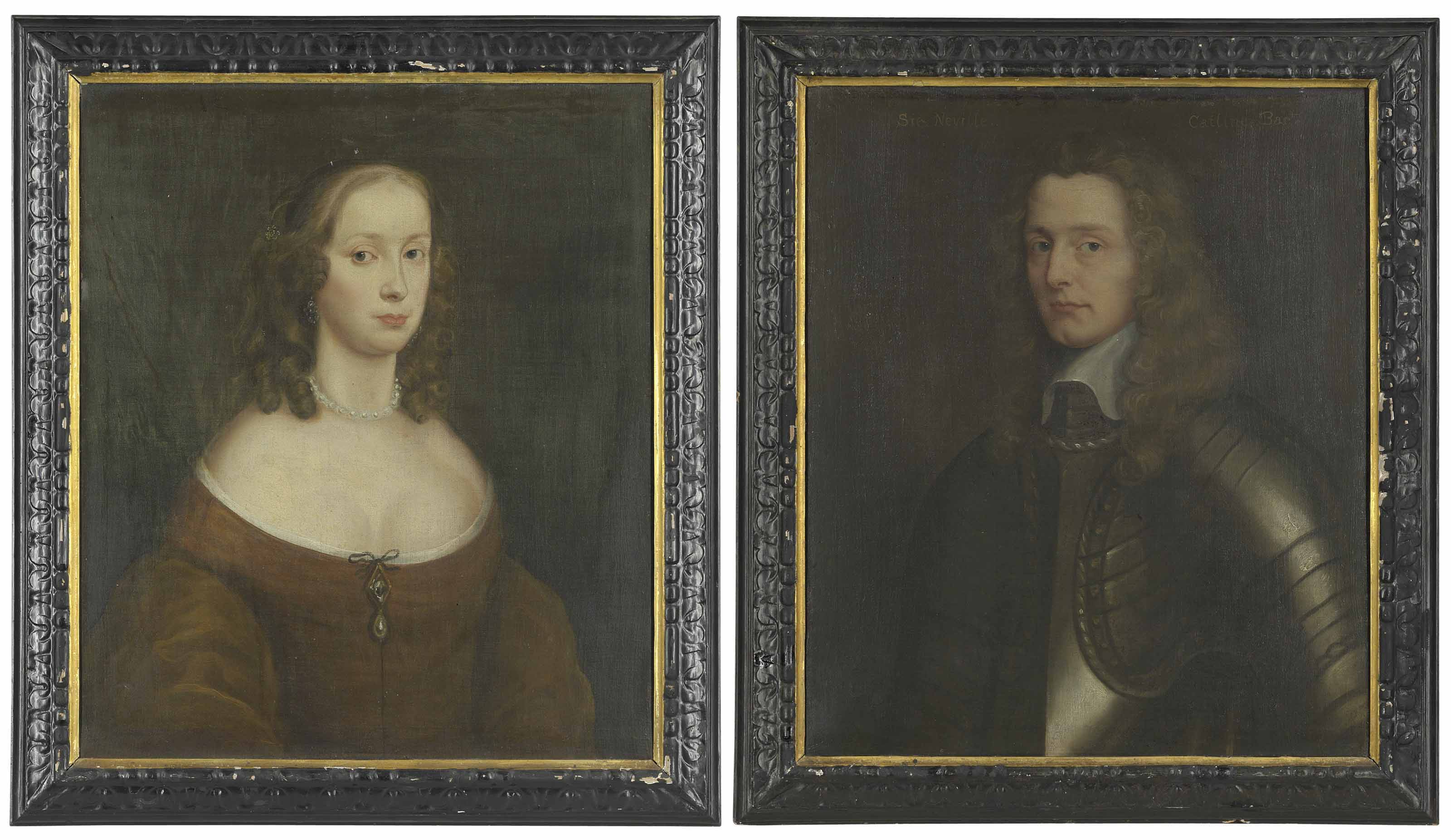 Portrait probably of Lady Catlin; and Portrait of Sir Neville Catlin
