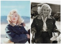 Marilyn Monroe Blue Jean Jacket/ Pyramid lake, Nevada, 1960