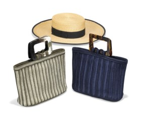 TWO PASSEMENTRIE HAND BAGS