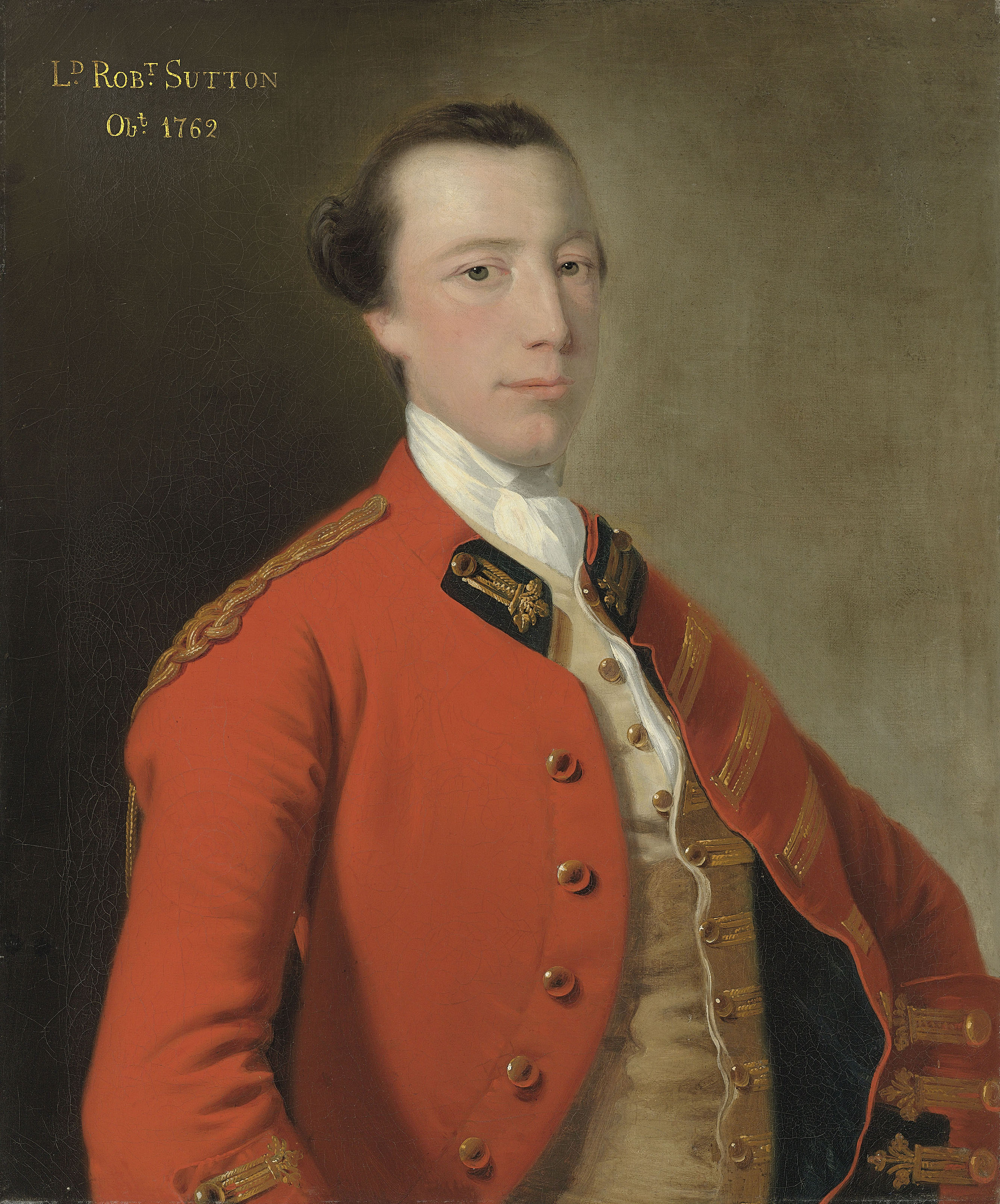Portrait of Lord Robert Manners-Sutton (1722-1762), half-length, in uniform