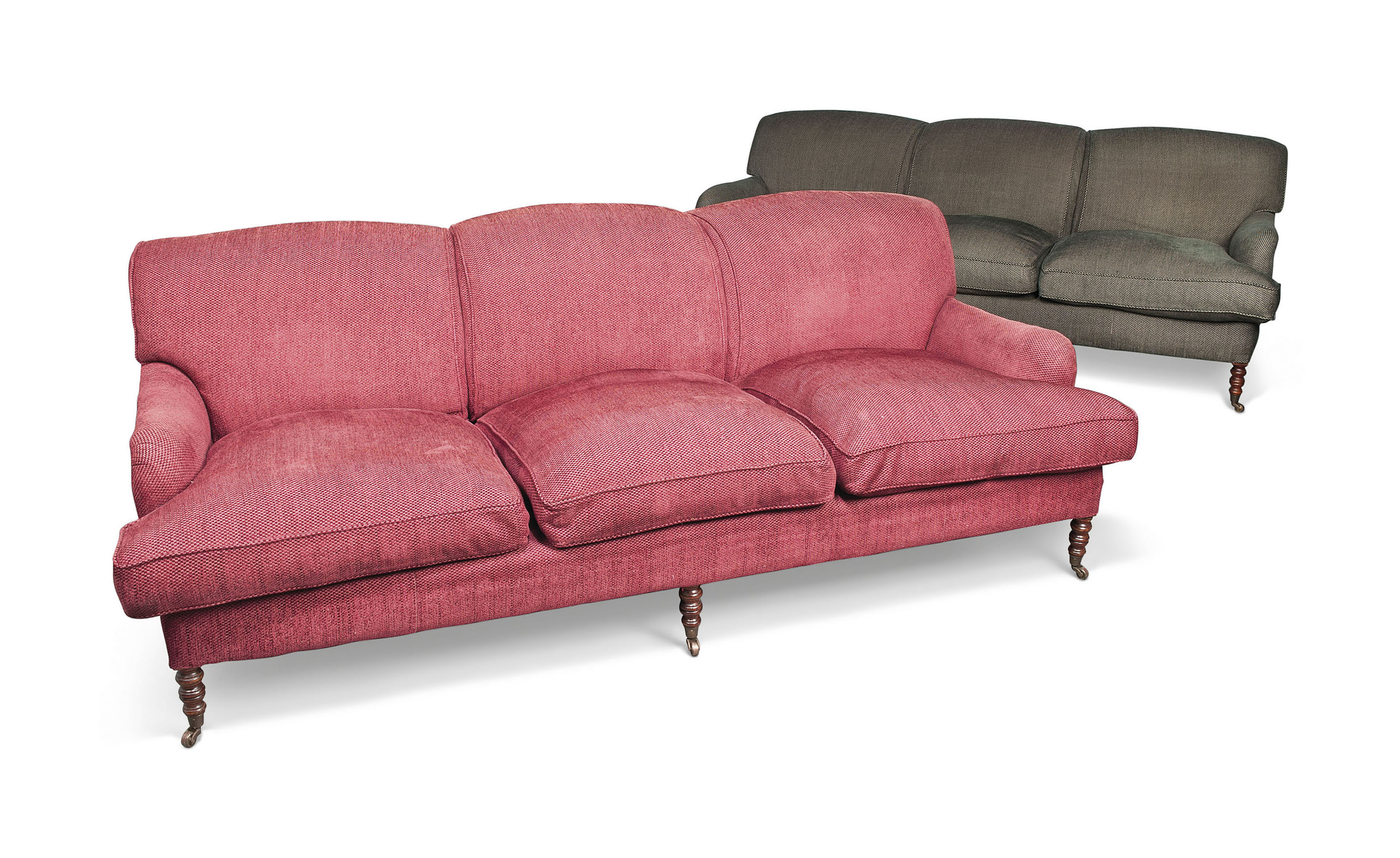 TWO UPHOLSTERED SOFAS