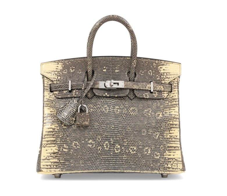 A rare, ombré salvator lizard Birkin 25 with palladium hardware, Hermès, 2007. 25 w x 19 h x 13 d cm. Estimate £15,000-20,000. This lot is offered in Handbags & Accessories on 12 June 2018 at Christie's in London