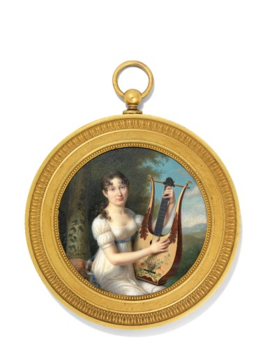 Joseph-Marie Bouton (1768-1832). 86  mm  diameter, ormolu frame. Estimate £6,000-8,000. Offered in Treasured Portraits from the Collection of Ernst Holzscheiter on 4 July 2018 at Christie's in London