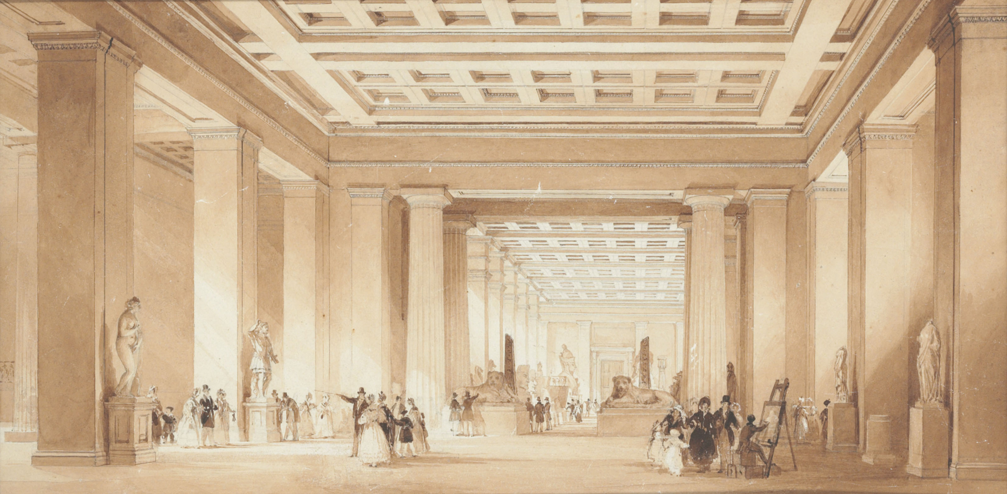 View of the Egyptian Rooms at the British Museum, London