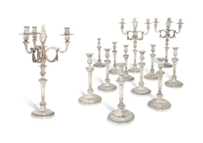 A SET OF TWELVE DUTCH SILVER C