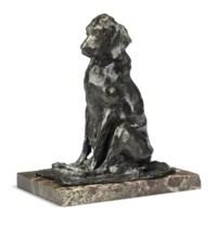 A seated bloodhound bitch