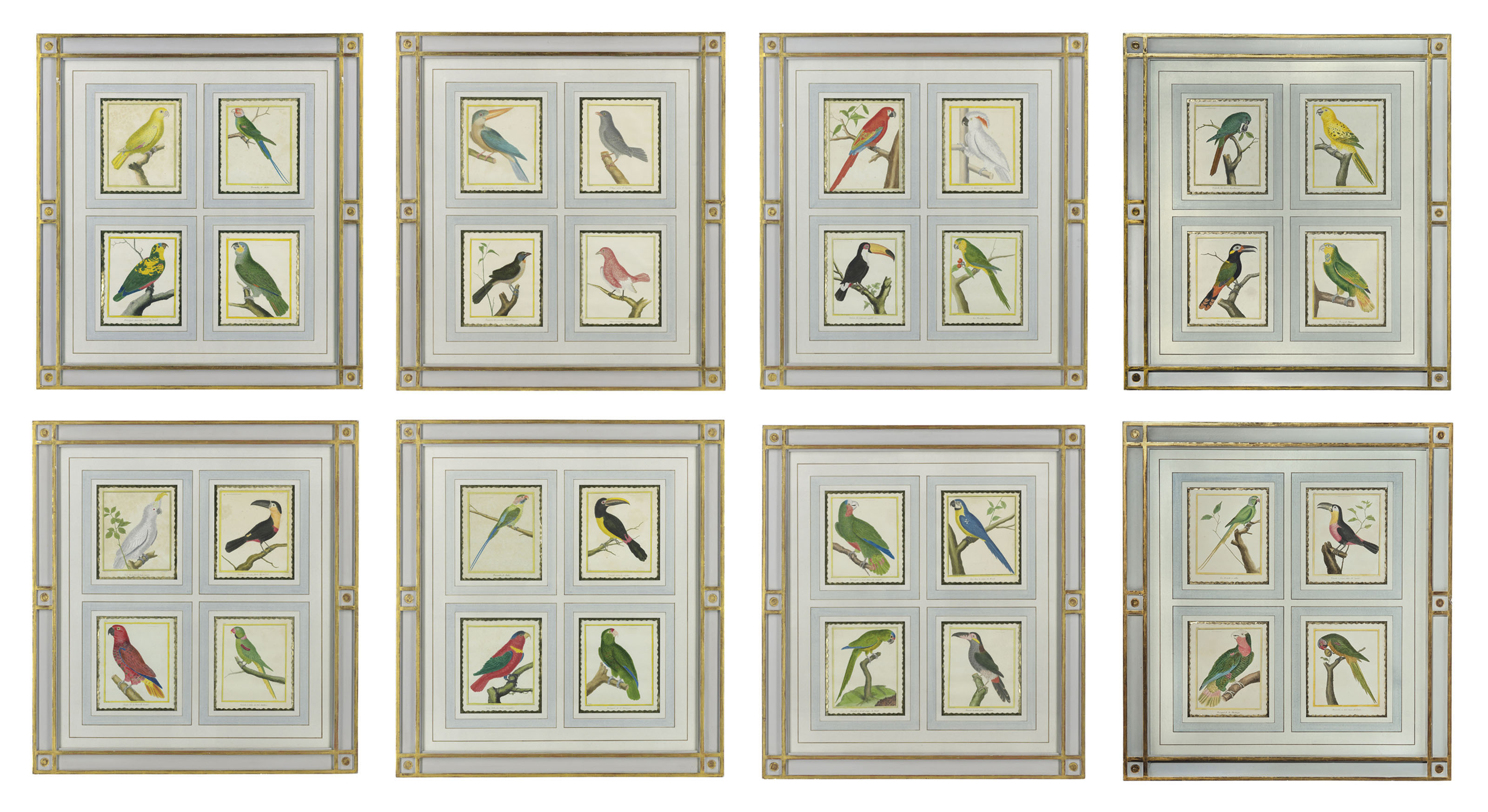THIRTY-TWO HAND-COLOURED ENGRAVINGS OF BIRDS FROM HISTOIRE NATURELLE DES OISEAUX