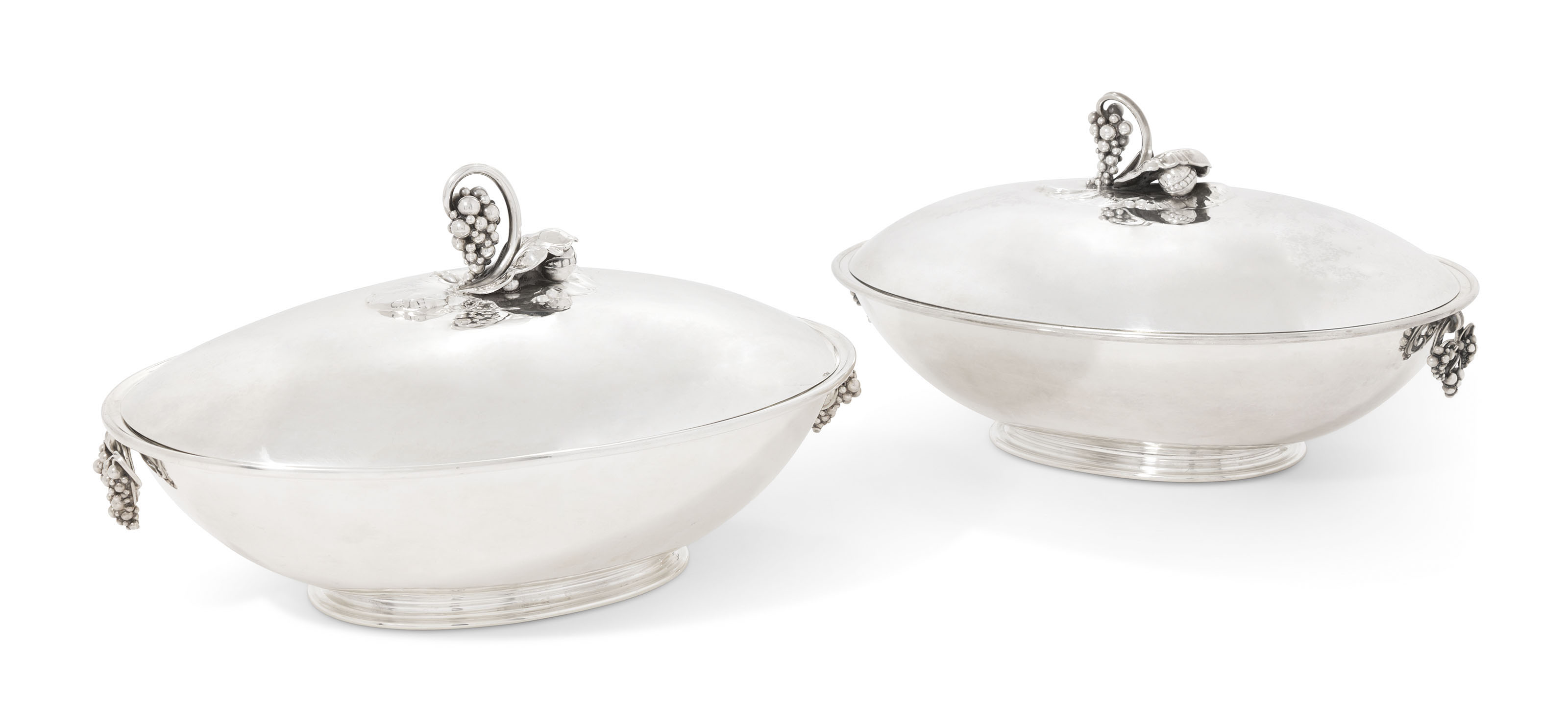 TWO DANISH TUREENS AND COVERS