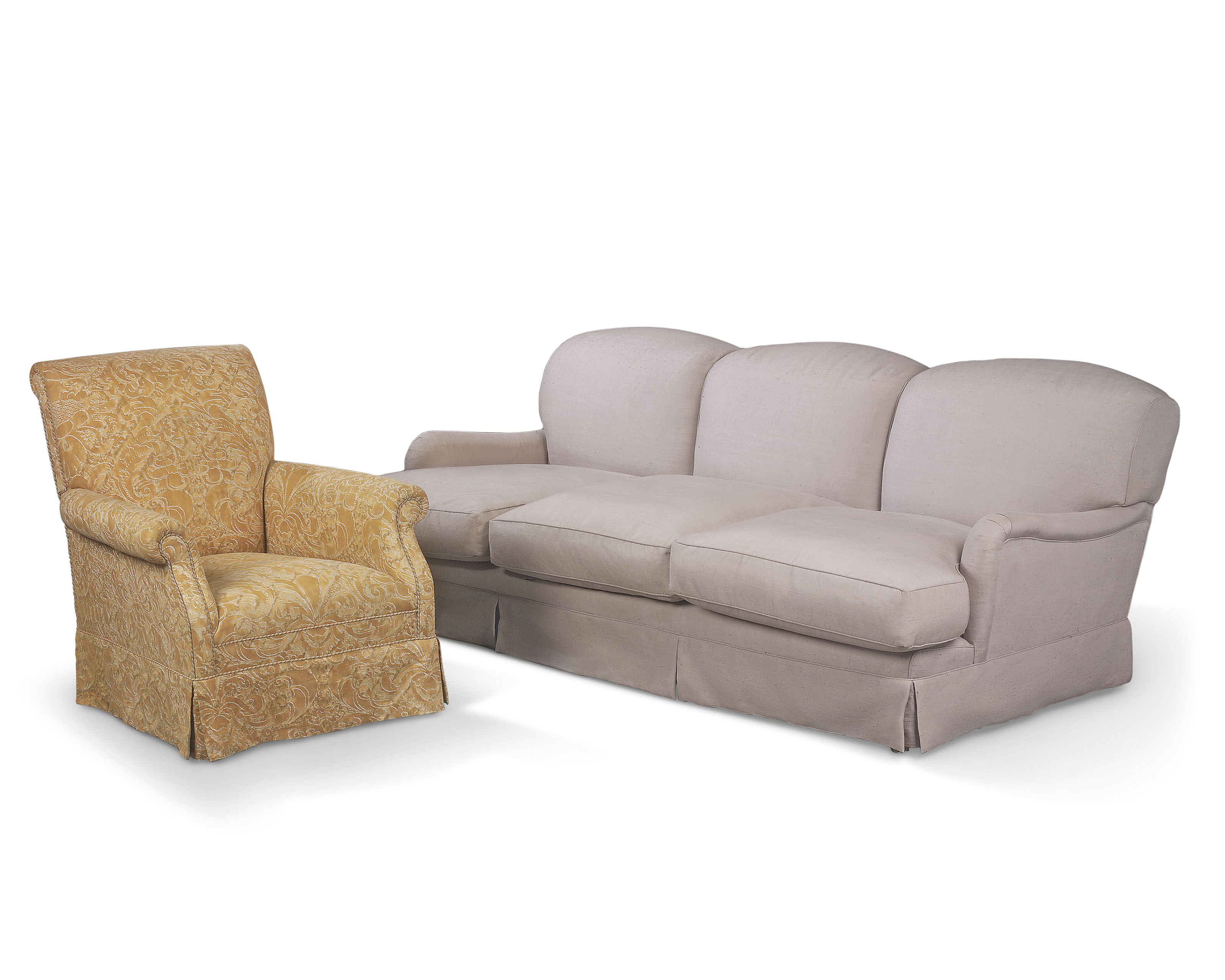 Terrific A Three Seat Sofa And Armchair Modern In The Manner Of Camellatalisay Diy Chair Ideas Camellatalisaycom