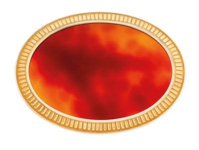 A FRENCH GOLD AND HARDSTONE SN