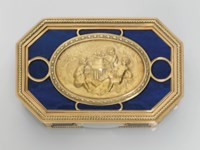 A LOUIS XVI VARI-COLOUR GOLD AND HARDSTONE SNUFF-BOX