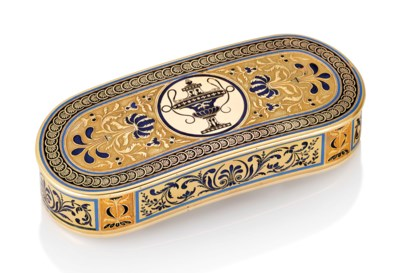 A FRENCH PARCEL-ENAMELLED GOLD