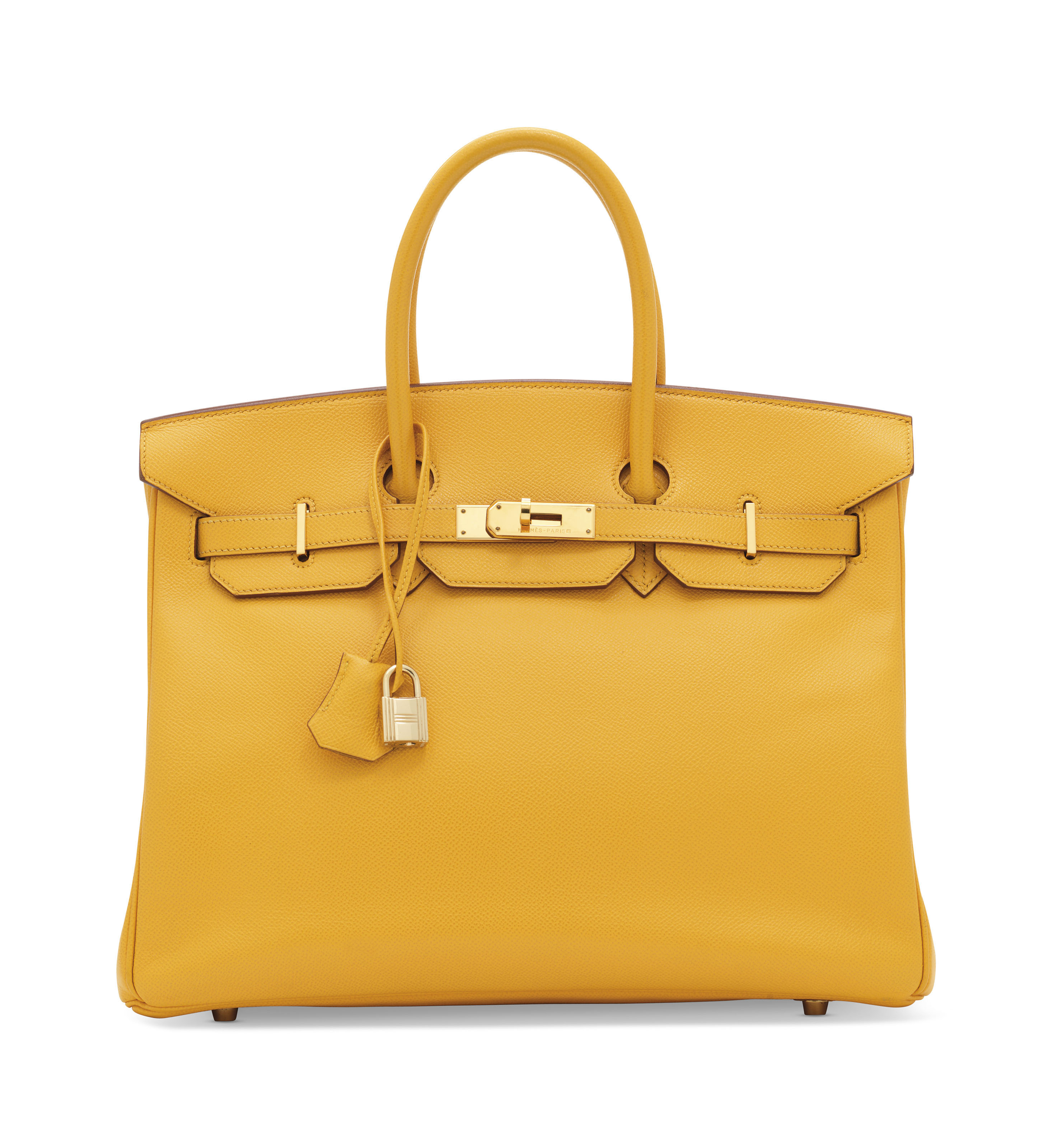 A JAUNE COURCHEVEL LEATHER BIR