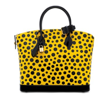 A set of two a limited edition yellow Monogram Vernis Infinity Dots Lockit & zippy wallet with gold hardware by Yayoi Kusama, Louis Vuitton, 2012. 20 w x 11 h x 2.5 d cm. Estimate £2,000-2,500. This lot is offered in Handbags & Accessories on 12 December 2018 at Christie's in London