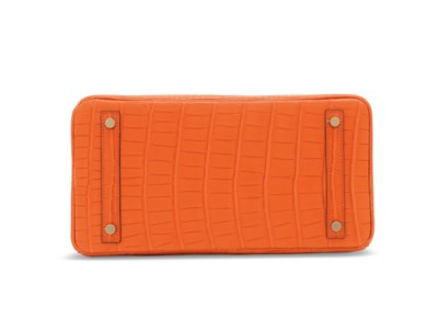 A MATTE ORANGE POPPY ALLIGATOR
