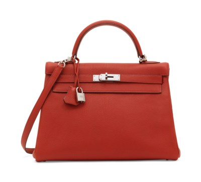 A ROUGE GARANCE TOGO LEATHER R