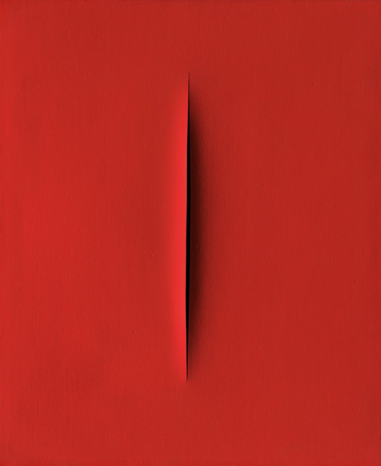 Lucio Fontana (1899-1968), Concetto spaziale, Attesa, executed in 1965-1966. 29⅛ x 23⅞ in (74 x 60.5 cm). Estimate £2,500,000-3,500,000. This lot is offered in Thinking Italian on 4 October 2018 at Christie's in London