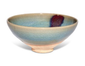 A LARGE PURPLE-SPLASHED JUN BOWL