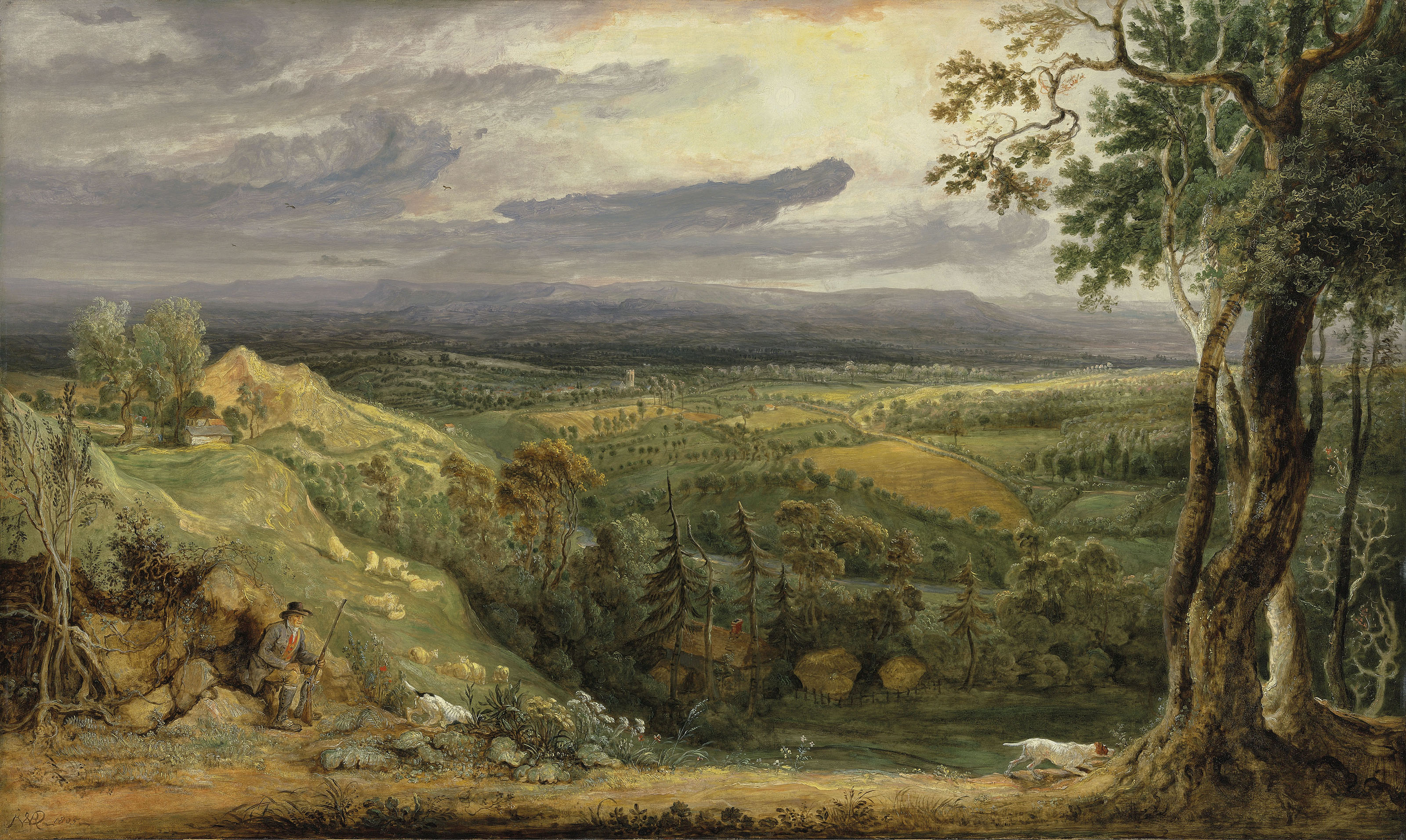 A view of Somersetshire from Fitzhead, the Seat of Lord Somerville