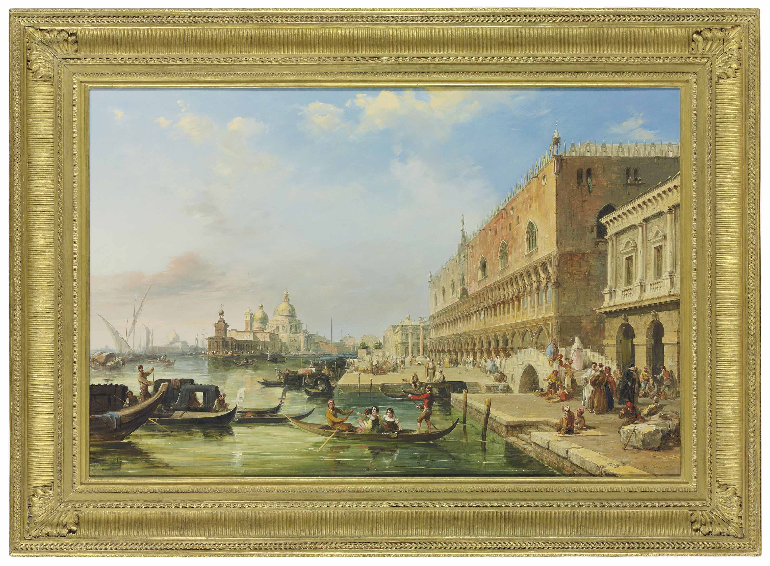 The Bacino, Venice, looking towards the Grand Canal