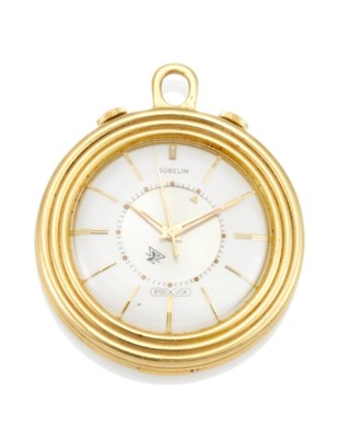 A PENDANT/TRAVEL ALARM IPSO VOX WATCH, BY GUBELIN, CIRCA 1950
