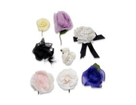 A COLLECTION OF SILK FLOWERS