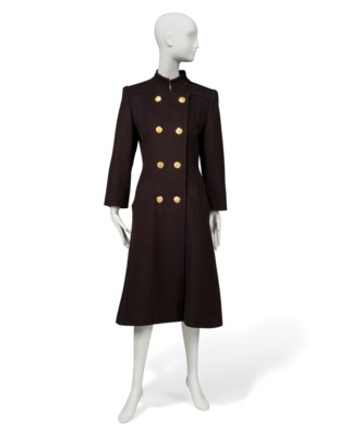 A DARK BROWN CASHMERE COAT AND A BLACK CASHMERE GREAT COAT