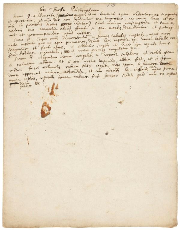 Newton's fascination with alchemy