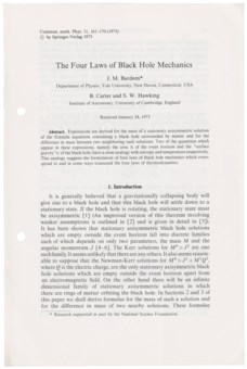 Fifth Business Essays The Four Laws Of Black Hole Mechanics Synthesis Essays also Persuasive Essay Paper Stephen Hawking  His Life And Time Travel In  Extraordinary  Sample Of English Essay