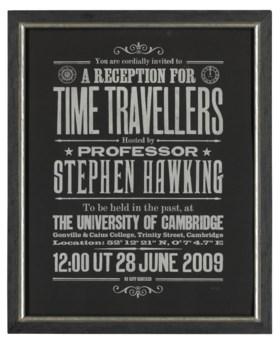 Stephen Hawking's Time Travellers Invitation