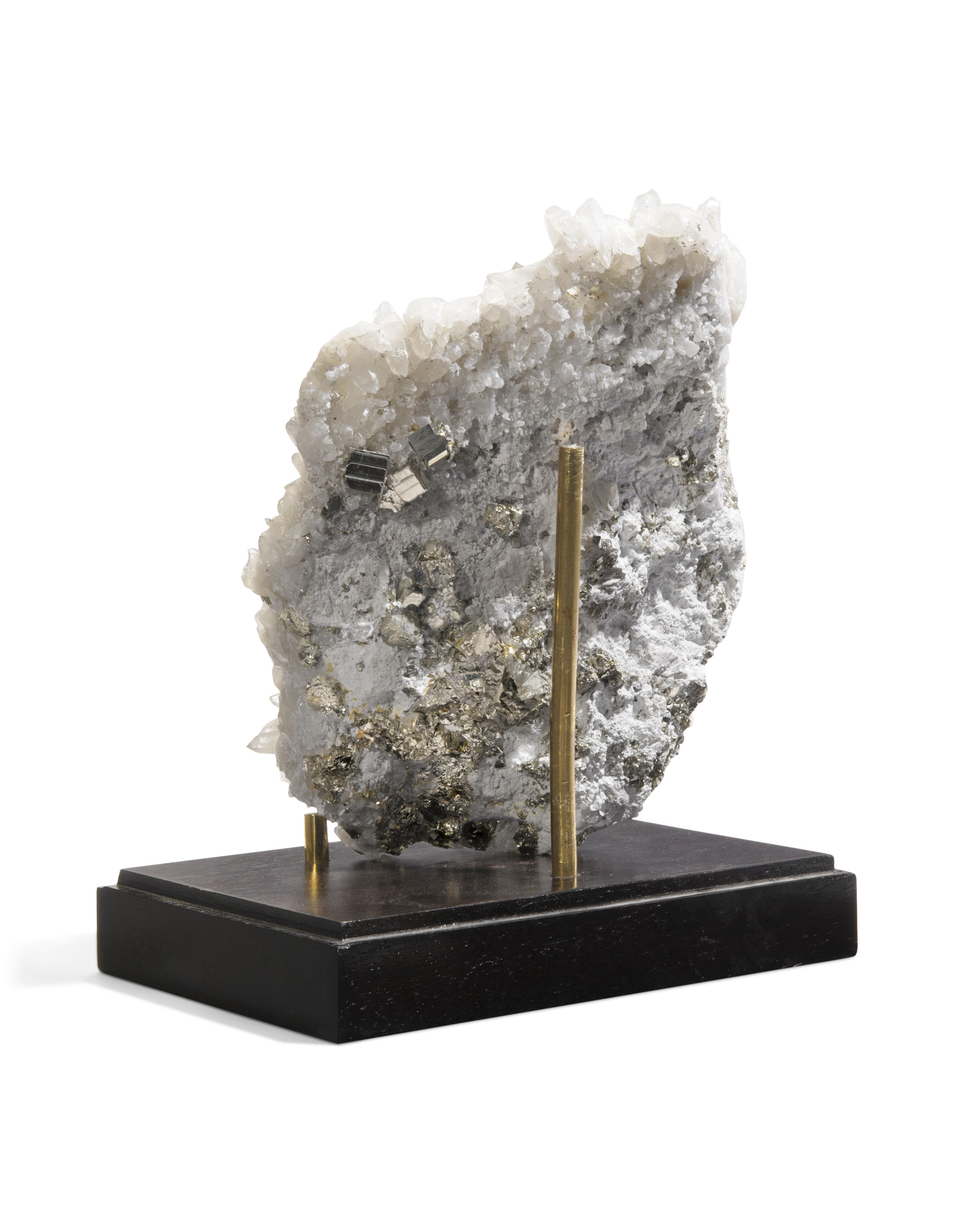 A SPECIMEN OF PYRITE IN QUARTZ