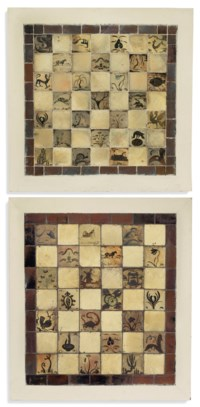 Two tile panels
