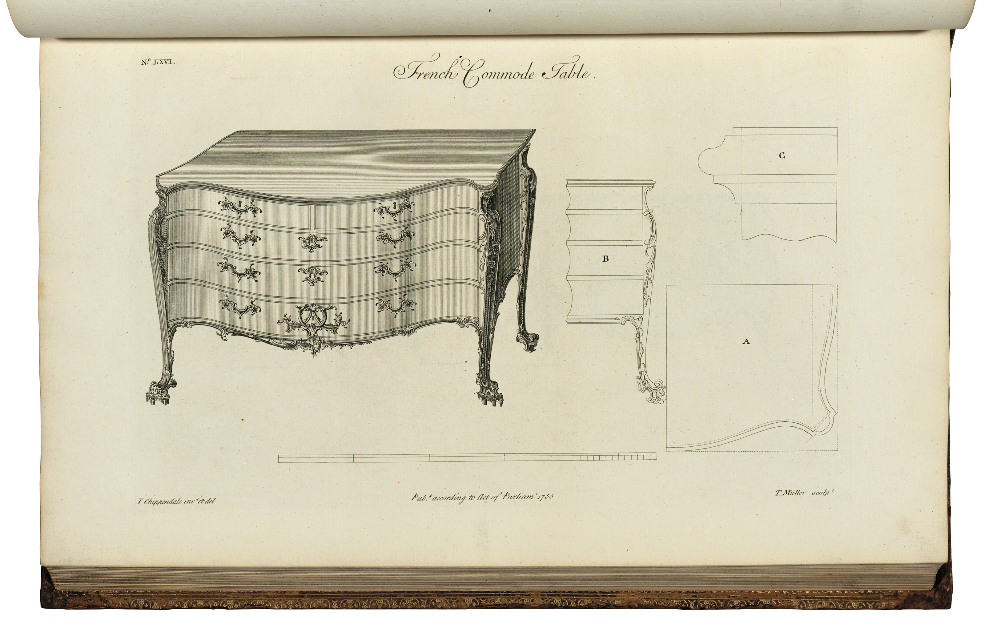 CHIPPENDALE Thomas 1718 1779 The Gentleman and Cabinet Maker s
