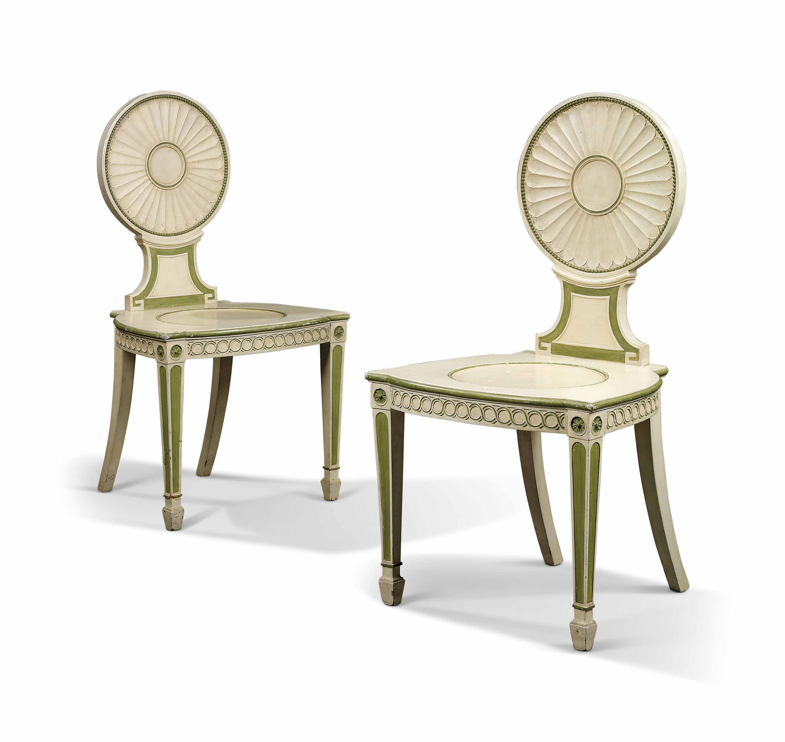 A PAIR OF GEORGE III WHITE AND