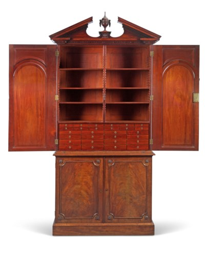 Mahogany Cabinets: A GEORGE III MAHOGANY CABINET , BY THOMAS CHIPPENDALE