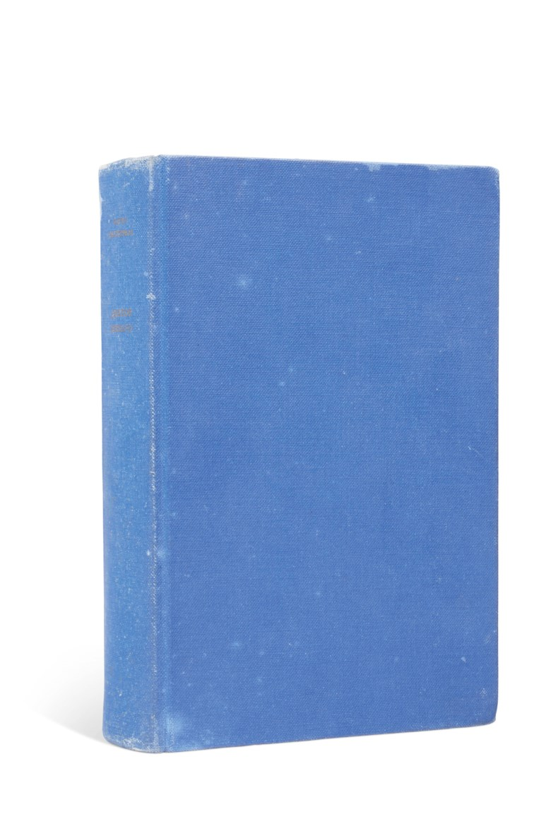 Pasternak, Boris Leonidovich (1890-1960). Doktor Zhivago. Milan [The Hague] Feltrinelli [Mouton], 1958.Estimate £4,000-6,000. Offered in Russian Literary First Editions & Manuscripts Highlights from the R. Eden Martin Collection on 28 November 2018 at Christie's in London