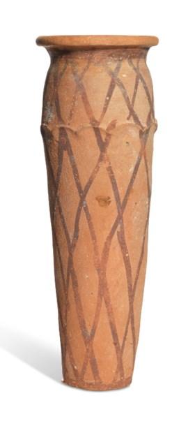 AN EGYPTIAN POTTERY 'NET' JAR